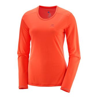 Salomon AGILE - Camiseta mujer fiery cor