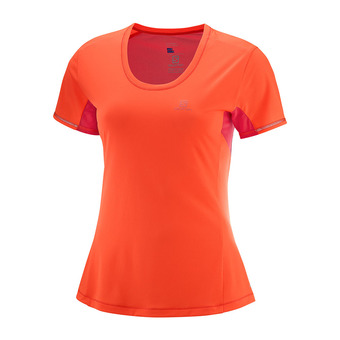 Camiseta mujer AGILE fiery coral