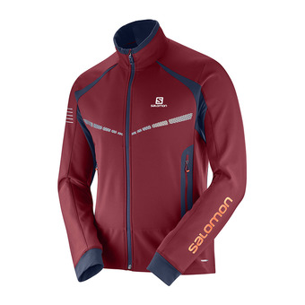 Chaqueta de esquí nórdico SoftShell hombre RS WARM SOFTSHELL biking re/night