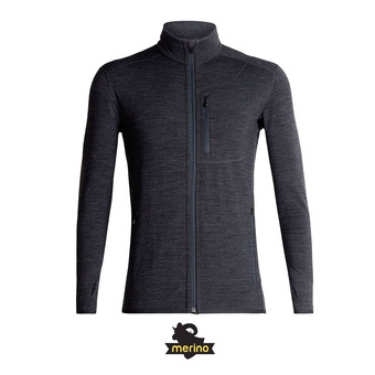 Sweat zippé homme DESCENDER jet HTHR/Monsoon