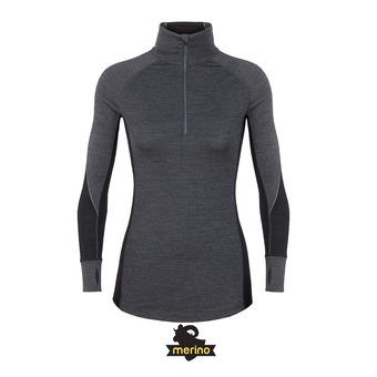 Icebreaker 260 ZONE - Camiseta térmica mujer jet hthr/black/snow