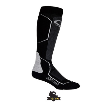 Icebreaker SKI+ MEDIUM OTC - Calcetines mujer black/oil/silver