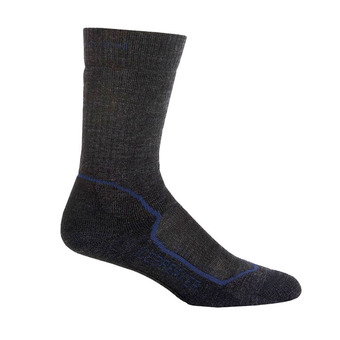 Icebreaker HIKE+ MEDIUM CREW - Calcetines hombre jet hthr/planet/black