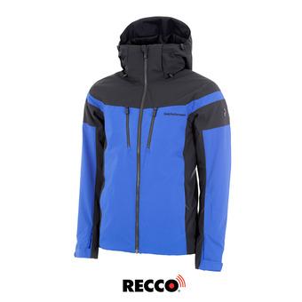 Chaqueta de esquí Recco® hombre LANZO island blue