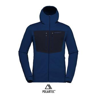 Veste à capuche Polartec® homme LYNGEN POWERSTRETCH PRO vintage indigo