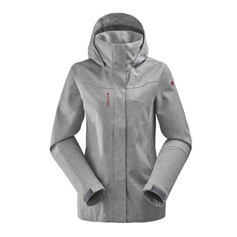 Veste à capuche femme TRACK ZIP-IN heather grey
