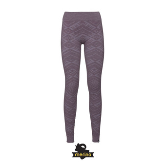 Odlo NATURAL WARM - Mallas mujer vintage violet heather