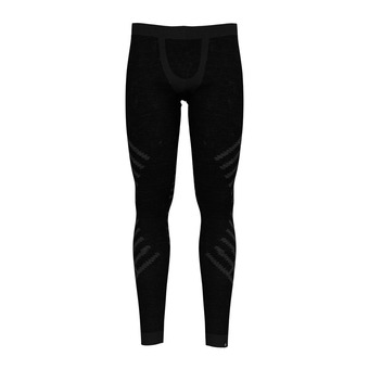 Odlo NATURAL + KINSHIP WARM - Tights - Men's - black marl