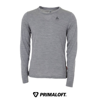 Odlo NATURAL MERINO WARM - Camiseta térmica hombre heather grey/heather grey