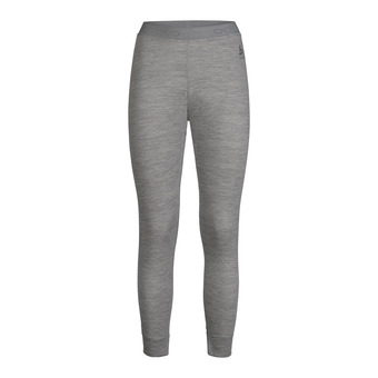 Odlo NATURAL MERINO WARM - Tights - Women's - grey marl/grey marl