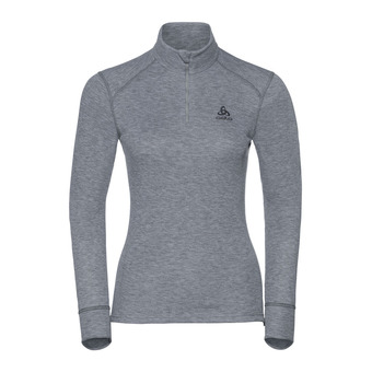 T-shirt ML 1/2 zip ACTIVE WARM Originals Femme grey melange
