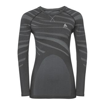 Odlo PERFORMANCE BLACKCOMB - Camiseta térmica mujer black/concrete grey