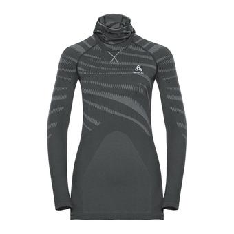 Camiseta térmica con pasamontañas mujer PERFORMANCE BLACKCOMB black/concrete grey