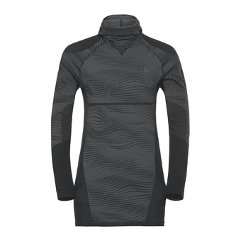 Odlo PERFORMANCE BLACKCOMB - Camiseta térmica hombre black/concrete grey/silver