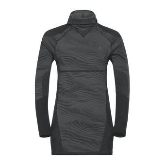 Odlo PERFORMANCE BLACKCOMB - Maglia termica Uomo black/concrete grey/silver