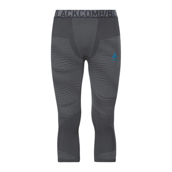 Odlo PERFORMANCE BLACKCOMB - 3/4 Tights - Men's - black/concrete grey/silver