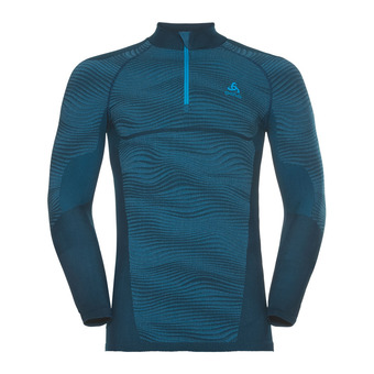 Sous-couche ML 1/2 zip homme PERFORMANCE BLACKCOMB poseidon/blue jewel/atomic blue