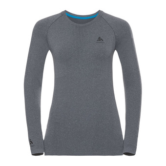 Camiseta térmica mujer PERFORMANCE WARM grey melange/black