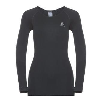 Odlo PERFORMANCE WARM - Camiseta térmica mujer black/concrete grey