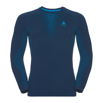 Odlo PERFORMANCE WARM - Sous-couche Homme poseidon/blue jewel