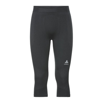 Odlo PERFORMANCE WARM - 3/4 Tights - Men's - black/concrete grey