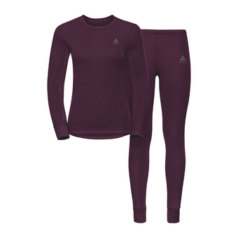Conjunto camiseta térmica + mallas mujer ACTIVE ORIGINALS WARM pickled beet