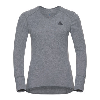Sous-couche ML femme ACTIVE ORIGINALS WARM V grey melange