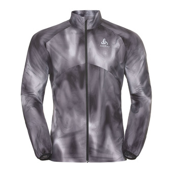 Odlo OMNIUS LIGHT - Chaqueta hombre concrete grey/black/aop