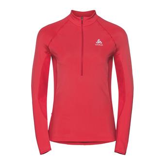 Sweat 1/2 zip femme ZEROWEIGHT WARM hibiscus