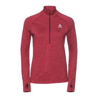 Sweat 1/2 zip femme IRBIS WARM rumba red/hibiscus