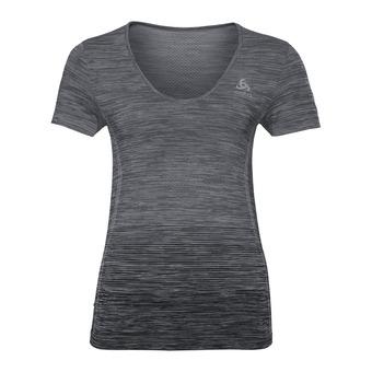 Odlo MAIA SEAMLESS - Camiseta mujer steel grey/black