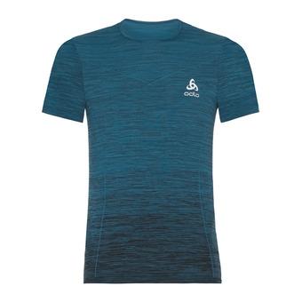 Camiseta hombre VIGOR SEAMLESS blue coral/black