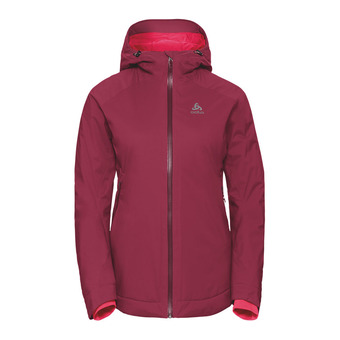 Chaqueta mujer FLOW COCOON ZW WATERPROOF rumba red