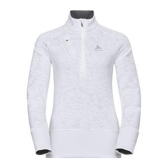 Odlo BIRDY - Sweatshirt - Women's - white/aop