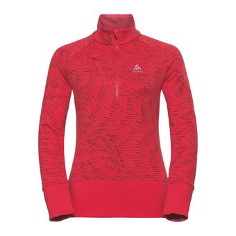 Odlo BIRDY - Sweatshirt - Women's - hibiscus/aop