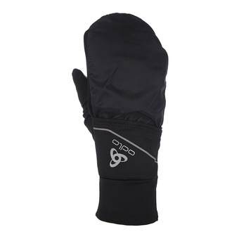 Odlo INTENSITY COVER SAFETY LIGHT - 2 in 1 Gloves - black