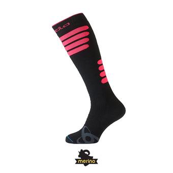 Odlo SKI CERAMIWARM - Calcetines black/diva pink