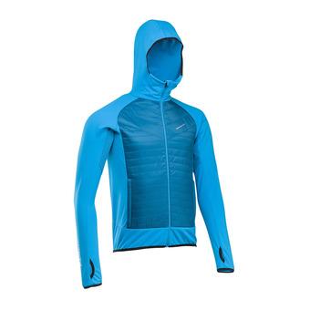 Chaqueta híbrida hombre WINTERTRAIL electric blue