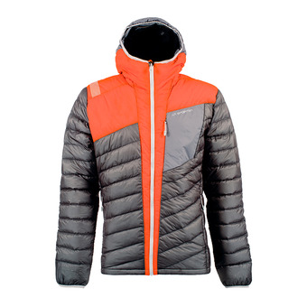 Anorak hombre CONQUEST DOWN black/pumpkin