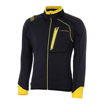 La Sportiva SHAMAL - Sweatshirt - Men's - black/yellow