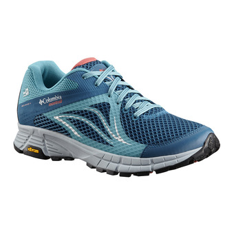 Columbia MOJAVE TRAIL II OUTDRY - Trail Shoes - Women's - phoenix blue sunset red