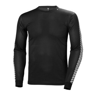 Helly Hansen HH LIFA STRIPE CREW - Base Layer - Men's - black