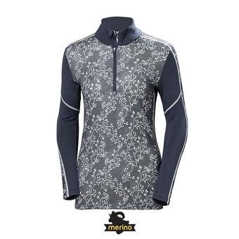 Camiseta térmica mujer LIFA MERINO graphite blue/winter be