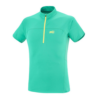 Maillot MC 1/2 zippé homme INTENSE ZIP dynasty green