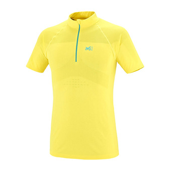 Maillot MC homme SEAMLESS ZIP yellow