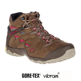 Zapatillas de senderismo mujer CHAM 7 MID GTX merrel stone