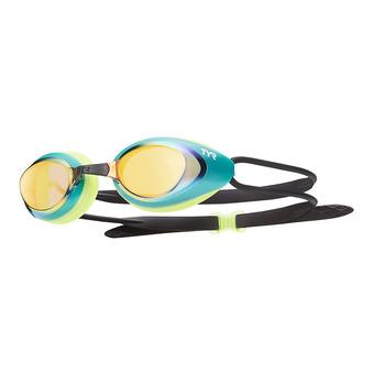 Lunettes de natation BLACK HAWK RACING MIRRORED fl yellow/gold-green