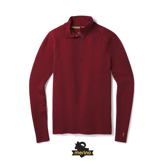 Smartwool MERINO 250 ZIP - Camiseta térmica hombre tibetan red heather