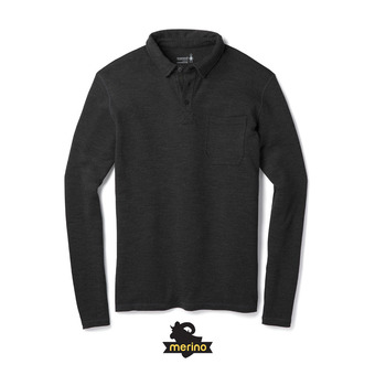 Polo hombre MERINO 250 charcoal heather