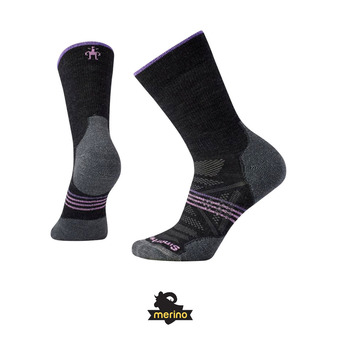 Smartwool PHD OUTDOOR LIGHT CREW - Calcetines mujer charcoal